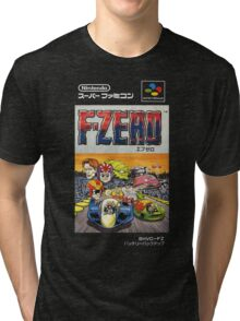 F-Zero Nintendo Famicom Box Art (NES) Tri-blend T-Shirt