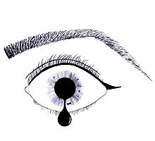 Inky Tear Photographic Print