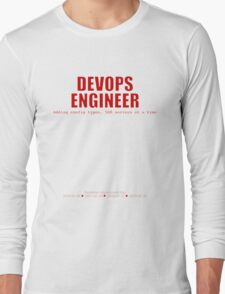 Devops Engineer (Red) - Sysadmin Day Long Sleeve T-Shirt