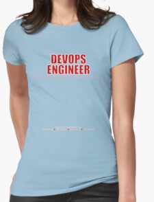 Devops Engineer (Red) - Sysadmin Day Womens Fitted T-Shirt