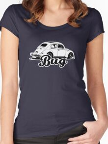 Retro BUG T-Shirt 2 Color Women's Fitted Scoop T-Shirt