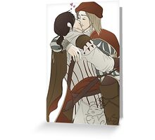 Ezio and Leonardo - I missed you Greeting Card