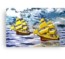 Two Ships of the Line in the Style of the Masters Canvas Print