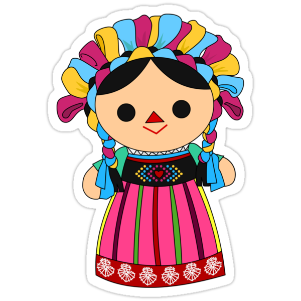 Maria 3 mexican doll quot stickers by alapapaju redbubble