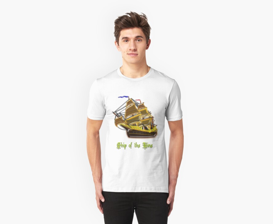 Ship of the Line T-shirt by Dennis Melling
