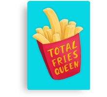 Total FRIES Queen Canvas Print