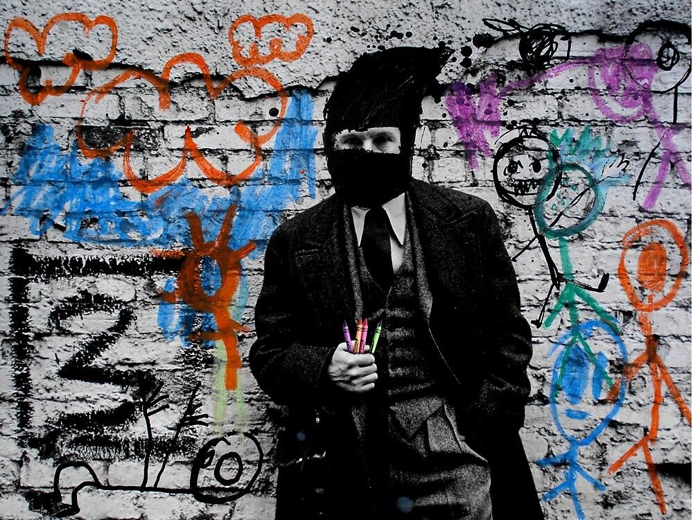 the crayola grafitti bandit   by Loui  Jover