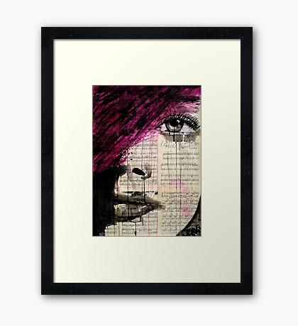 violets song Framed Print