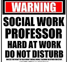 Warning Social Work Professor Hard At Work Do Not Disturb by cmmei