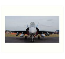 F/A 18-A Hornet - 3SQN RAAF Williamtown Art Print