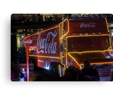 Coca Cola Truck, Glasgow Canvas Print