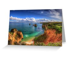 Red Sandstone Cliffs Greeting Card