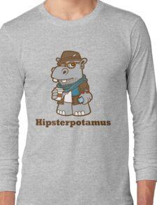 Hipsterpotamus Long Sleeve T-Shirt