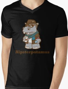Hipsterpotamus Mens V-Neck T-Shirt