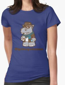 Hipsterpotamus Womens Fitted T-Shirt