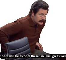 Ron Swanson Parks and Rec by arjacobs97