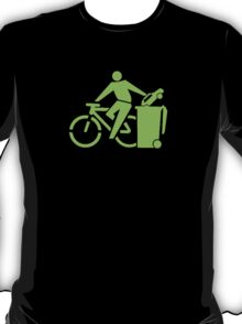 clean up.    green font T-Shirt