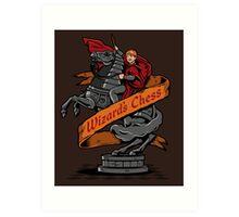 Wizard's Chess Art Print