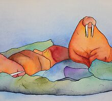 Warm Walrus Contemplating Cool Wishes by Christina Fields