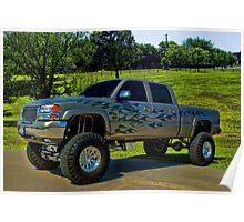 2007 GMC 3500 Monster Truck Poster