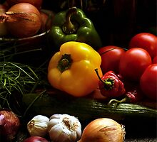 Still Life with Vegetables by olgavansaane