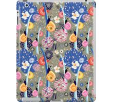 Floral pattern with bright snail iPad Case/Skin