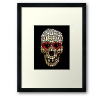Skull Art - Day Of The Dead 3 Stone Rock'd Framed Print