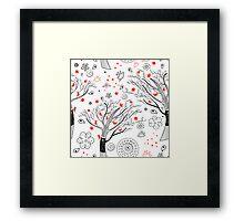 beautiful trees Framed Print