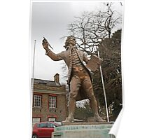 Thomas Paine 1737 1809  Statue in Thetford Norfolk England Poster