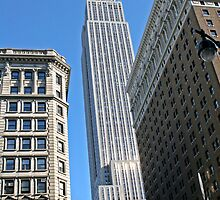 The Empire State building in New York by Keith Larby
