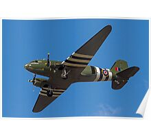 """Douglas Dakota C.3 ZA947 """"Kwischerbischen"""" Poster"""