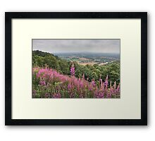 View from the Malverns Framed Print