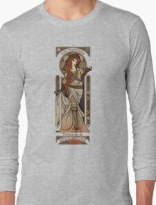 Steampunk Nouveau 2- Cream Long Sleeve T-Shirt