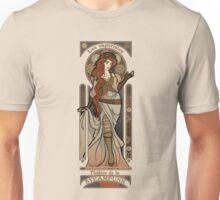 Steampunk Nouveau 2- Cream Unisex T-Shirt