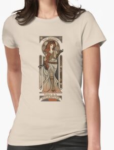 Steampunk Nouveau 2- Cream Womens Fitted T-Shirt