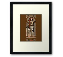 Steampunk Nouveau 2- Brown Framed Print
