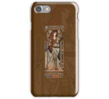 Steampunk Nouveau 2- Brown iPhone Case/Skin