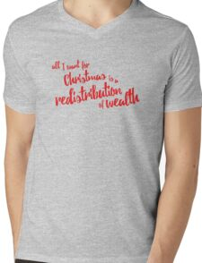 Communist Christmas - Wealth Redistribution Mens V-Neck T-Shirt
