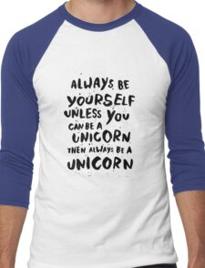 Be unicorn - black Men's Baseball ¾ T-Shirt