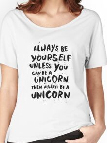 Be unicorn - black Women's Relaxed Fit T-Shirt