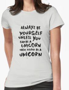 Be unicorn - black Womens Fitted T-Shirt