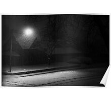 Dark and Stormy Night B&W Poster