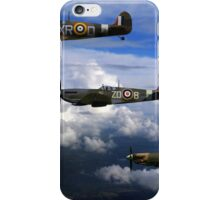 Spitfire formation in flight iPhone Case/Skin