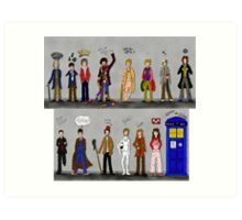 The Doctors and the Companions Art Print