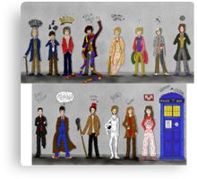 The Doctors and the Companions Metal Print