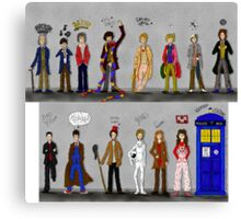 The Doctors and the Companions Canvas Print