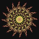 Psychedelic fire ornament sun by Andrei Verner
