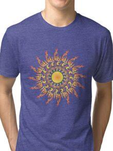 Psychedelic fire ornament sun Tri-blend T-Shirt