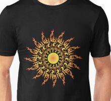 Psychedelic fire ornament sun Unisex T-Shirt