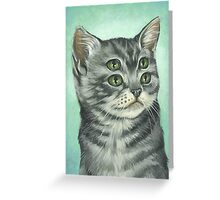 FOUR EYED KITTY Greeting Card